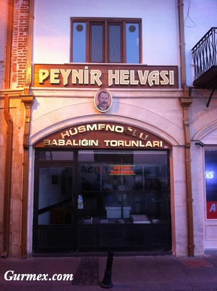 Assos'tan İstanbul'a yol üstü yeme içme yerleri, Çanakkalede peynir helvası nerede yenir,husmenoglu-peynir-helvasi