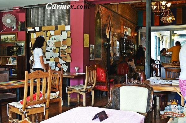 İç mekan Privato Cafe Galata