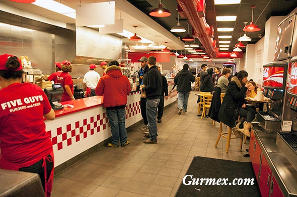 New York Hamburger Five Guys Manhattan Amerika