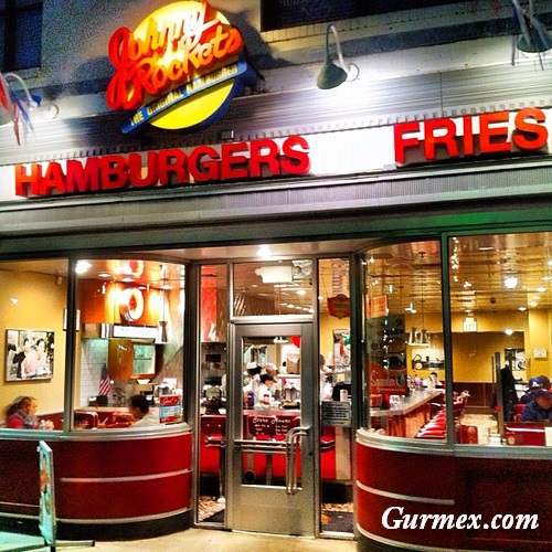 New York Hamburger nerede yenir Johnny Rockets Hoboken Amerika 1