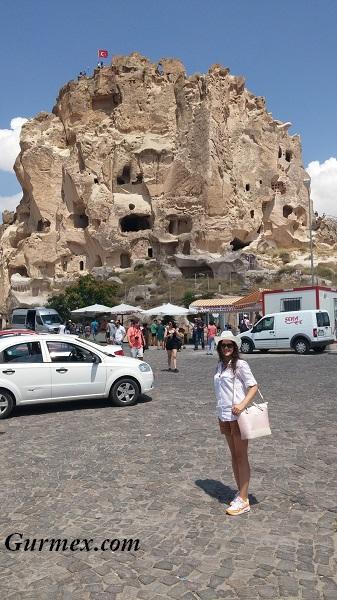 Kapadokya Uçhisar kalesi Ürgüp