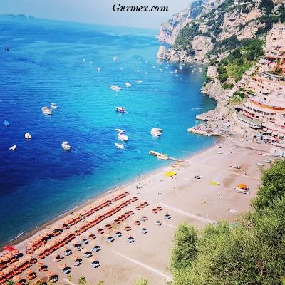 Amalfi Kıyıları gezi notları, positano Spiaggia Grande plajı