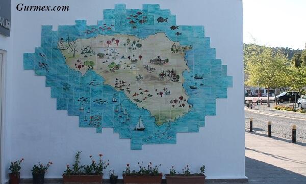 Bozcaada Gezilecek Yerler gezi haritası