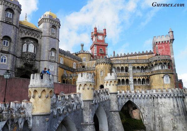 Lizbon gezilecek yerler, sintra kalesi Portekiz