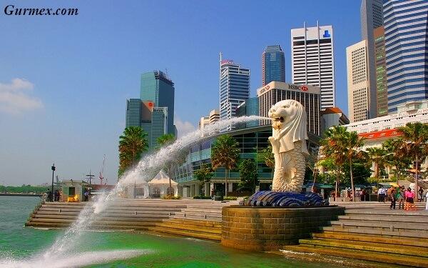 merlion heykeli Singapur'da gezi notları