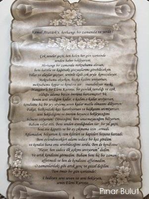 Balkan Gezisi Eleninin Atatürk'e mektubu