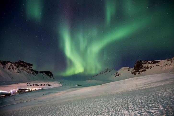 İzlanda Kuzey Işıkları aurora borealis