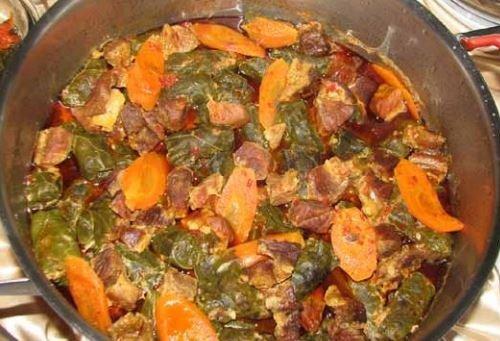 Ordu mutfağı, etli pancar kara lahana sarması