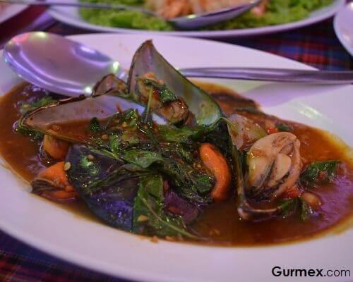 Sea Food Restaurant Bangkok,Tayland midye tava nerede yenir