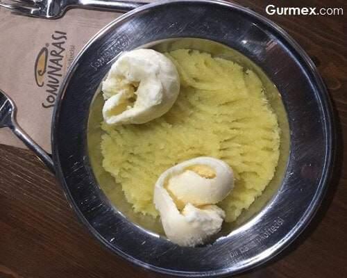 Vanilya çiçeği dondurması ile peynir helvası