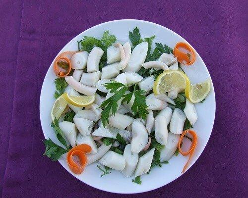 Ahtapot salata Çanakkale yemekleri
