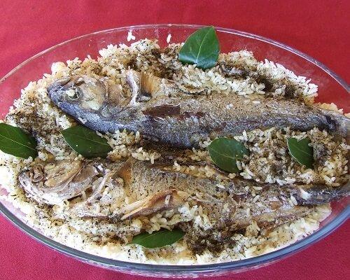 Lüfer pilavı Çanakkale yemekleri
