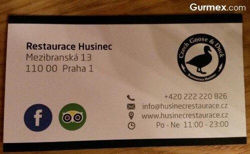 Husinec Restaurant, çekya prag