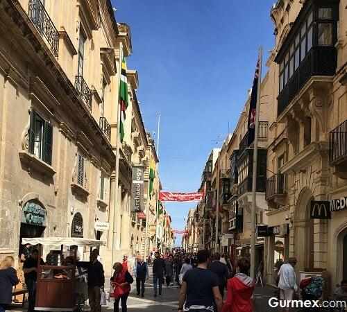 Malta Valletta republic street Malta Yeme İçme