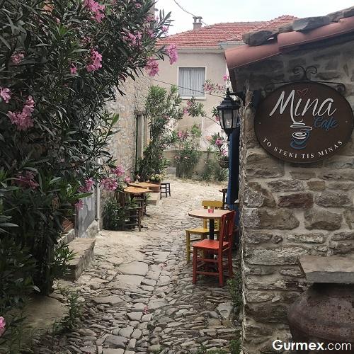 Gökçeada yeme içme mekanları Mina Cafe