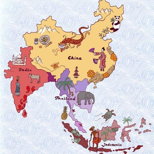 Asya kıtası yemek haritası