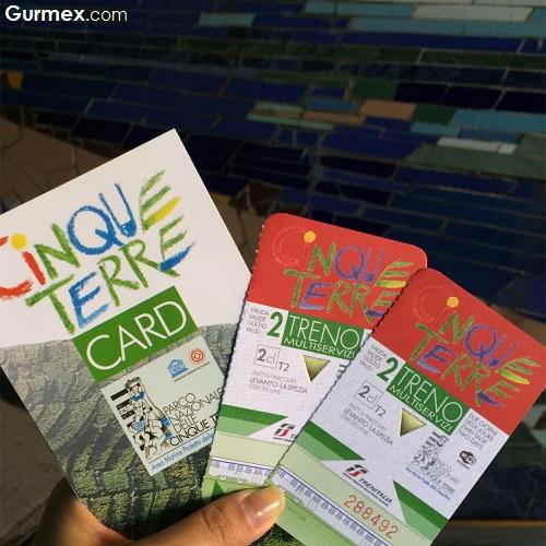 Cinque Terre Monterosso tren bileti